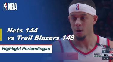 Portland defeats Brooklyn in double overtime148 - 144.