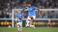 Gelandang Manchester City, Leroy Sane. (AFP/Charly Triballeau)