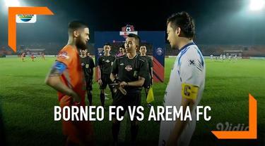 Borneo FC menang 2-0 saat menjamu Arema FC di laga pekan kedua Shopee Liga 1 2019 di Stadion Segiri, Samarinda, Rabu (22/05).