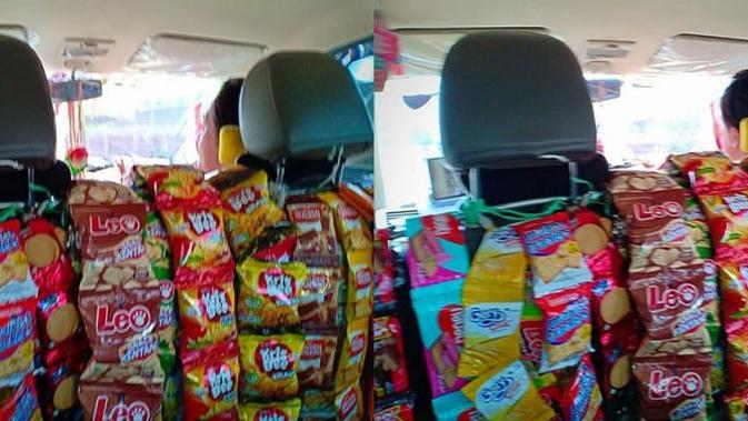 Driver Ojek Online Bagikan Makanan Gratis (sumber: Andy Tirta)