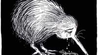 Burung Kiwi menangis karya Shaun Yeo yang menandakan Selandia Baru sedang berduka. (dok.Instagram @yeo_cartoons/https://www.instagram.com/p/BvA93PKFZB-/Henry