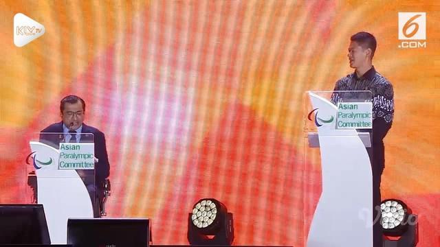 Walau dengan pelafalan yang sedikit meleset, Presiden Asian Paralympic Committee, Majid Rashed, mencoba memberi kesan di Penutupan Asian Para Games 2018 dengan bernyanyi 'Indonesia Raya'.