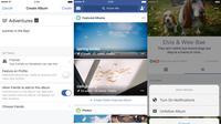 Featured Album Facebook yang sudah diperbarui membuat album tak hanya bisa menampung foto tetapi juga video, status, dan check-in lokasi (Sumber: Tech Crunh)