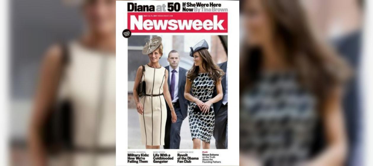 Foto kontroversial Putri Diana di sampul majalah (Newsweek)