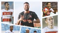 Kolase - Madura United: Slamet Nurcahyo, Rafael Silva, Jaja (Bola.com/Adreanus Titus)