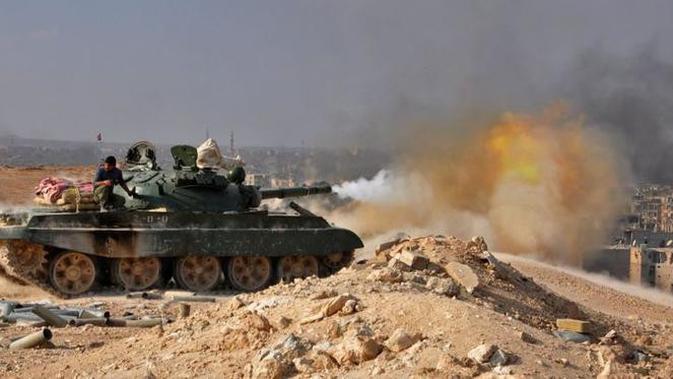 Operasi angkatan bersenjata pemerintah Suriah di benteng terakhir ISIS di Deir ez-Zor (AFP)