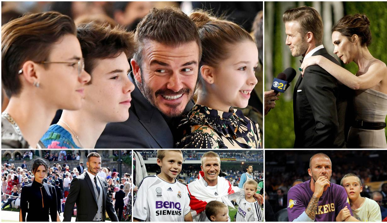 David Beckham adalah salah satu sosok panutan baik di dalam maupun di luar lapangan. Tak hanya sukses dalam karier, mantan pemain Manchester United ini juga berhasil membina keluarga yang kompak nan harmonis.