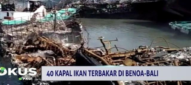 Dugaan sementara kebakaran terjadi karena faktor kesalahan manusia yakni para anak buah kapal.