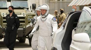 Atronaout NASA yang akan meluncur ke ISS dengan SpaceX. (Dokumentasi NASA/Bill Ingalls)