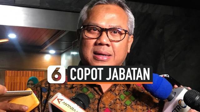 Arief Budiman resmi dicopot dari jabatan Ketua KPU (Komisi Pemilihan Umum) pada Rabu, 13 Januari 2021, setelah dinyatakan melanggar kode etik oleh Dewan Kehormatan Penyelenggara Pemilu.