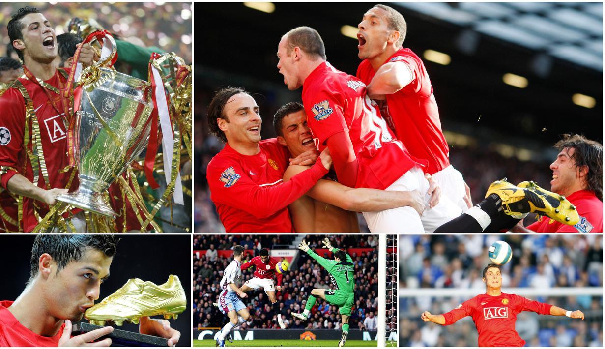 Cristiano Ronaldo pernah menorehkan tinta emas saat membela Manchester United. Enam tahun berada di Old Trafford, bintang Timnas Portugal ini telah mempersembahkan banyak gelar juara termasuk tiga titel Liga Inggris, satu Liga Champions dan Piala FA.