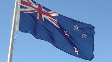 Bendera Selandia Baru sebelum referendum (AFP Photo)