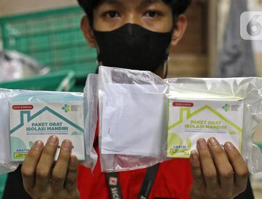FOTO: Proses Distribusi Obat bagi Pasien Isolasi Mandiri