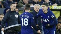 Pelatih Tottenham Hotspur, Jose Mourinho, saat pertandingan melawan Norwich City pada laga Premier League 2019 di Stadion Carrow Road, Sabtu (28/12). Kedua tim bermain imbang 2-2. (AFP/Lindsey Parnaby)