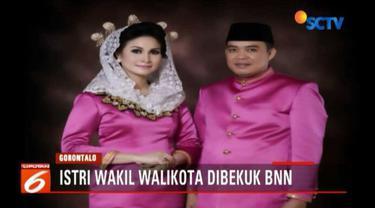 Badan Narkotika Nasional Provinsi (BNNP) Gorontalo menangkap istri Wakil Wali Kota Gorontalo Charles Budi Doku, Serli Djou.