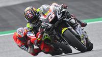 Johann Zarco saat mengikuti rangkaian MotoGP Styria. (JOE KLAMAR / AFP)