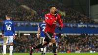 Jesse Lingard memastikan kemenangan 2-0 Manchester United atas Everton pada laga pekan ke-22 Premier League. (doc. Manchester United)