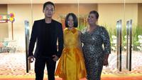 Finalis D'Academy 1, yaitu Ikif, Lesti dan Aty ditemui di sela-sela konferensi pers D'Academy 2 di SCTV Tower, Senayan, Jakarta, Kamis (5/2/2015). (Liputan6.com/Panji Diksana)