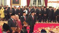 Banner Infografis Pelantikan Dewan Pengawas dan Pimpinan KPK 2019-2023. (Liputan6.com/Triyasni)