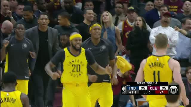 Berita video game recap NBA 2017-2018 antara Cleveland Cavaliers melawan Indiana Pacers dengan skor 98-95.