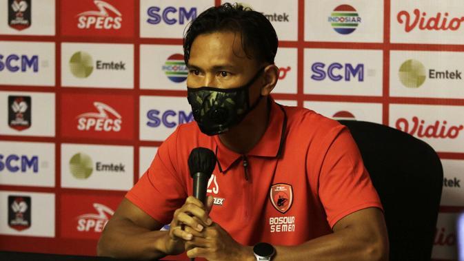 Kapten PSM Makassar, Zulkifli Syukur, menjelang duel kontra Persija Jakarta di semifinal Piala Menpora 2021. (Bola.com/Abdi Satria)