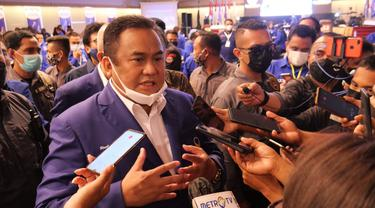 Rachmat Gobel usai membuka kegiatan Rakorwil Partai Nasdemi di Gorontalo (Arfandi Ibrahim/Liputan6.com)