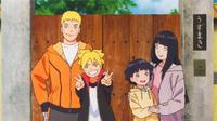 Naruto bersama Hinata dan kedua anak mereka, Boruto dan Himawari. (otakukart.com)