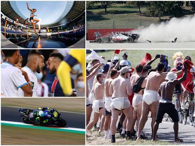 Berikut foto-foto olahraga terbaik pilihan redaksi Bola.com. Mulai dari sepak bola, tabrakan di ajang Formula 1 hingga serunya balap sepeda Tour de France.
