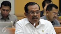 Jaksa Agung H. M. Prasetyo saat menggelar rapat dengan Komisi III DPR RI di Kompleks Parlemen, Senayan, Jakarta, Rabu (1/2). Rapat tersebut membahas penanganan kasus korupsi dan kinerja di Kejaksaan Agung. (Liputan6.com/Johan Tallo)