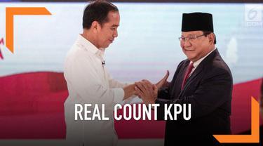 KPU Terus melakukan perhitungan hasil Pilpres 2019. Berikut raihan masing-masing paslon berdasarkan real count sementara KPU.