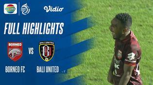 VIDEO: Borneo FC Tahan Imbang Bali United di Pekan Kelima BRI Liga 1