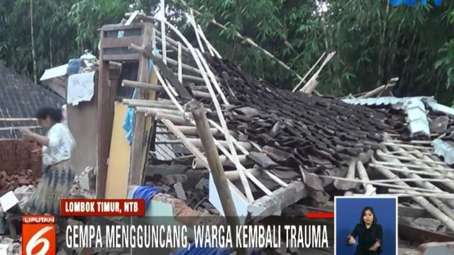 Gempa merobohkan sebagian besar rumah warga yang dibangun ulang setelah kejadian sebelumnya.