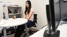 Mantan pemain tenis Korsel Kim Eun-hee saat wawancara dengan AFP di Seoul 29 Mei 2018. Untuk pertama kalinya, Kim berbicara kepada media internasional membeberkan sejumlah atlet wanita mengalami pelecehan seksual oleh pelatihnya. (AFP Photo/Jung Yeon-je)