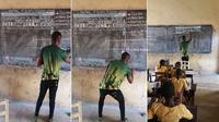 Richard Appiah Akoto sedang menggambar Microsoft Word (Foto: Richard Appiah Akoto)