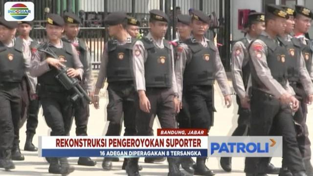 Rekonstruksi pengeroyokan Haringga Sirla digelar, Polrestabes Bandung mengungkap korban sempat minta tolong pada pedagang bakso.