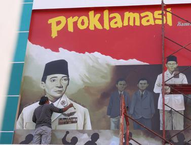Mural Proklamasi Kemerdekaan RI Sambut Agustusan