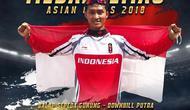 Pebalap Sepeda Indonesia, Khoiful Mukhib sukses meraih emas keempat untuk Indonesia cabang mountain Bike, Senin (20/8/2018)