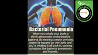 Klaim Penggunaan Masker Wajah Sebabkan Bakteri Pneumonia. (Facebook)