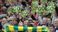 Beberapa kelompok suporter Manchester United menuntut Keluarga Glazer untuk pergi dari klub. (AFP/Andrew Yates)