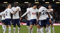 Manajer Tottenham Hotspur, Mauricio Pochettino, menilai kemenangan 4-1 atas AFC Bournemouth jadi obat kecewa klubnya setelah tersingkir dari Liga Champions. (AFP/Adrian Dennis)
