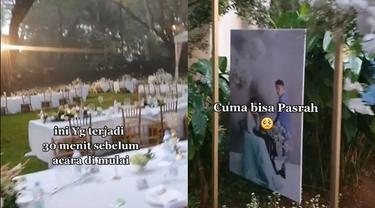 Viral Hujan Deras Guyur Lokasi Pernikahan 30 Menit Sebelum Acara Ini Bikin Sedih