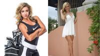 Paige Spiranac (kanan) akan bersaing dengan Chelsea Pezzola di Dubai Masters. (Instagram)
