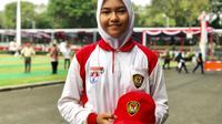 Calon Paskibraka Nasional 2019 dari Sumatera Utara, Sylvia Kartika Putri. (Foto: Liputan6.com/Ratu Annisaa Suryasumirat).