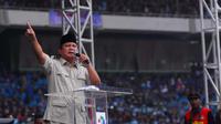 Prabowo pidato di GBK dalam rangka May Day (Liputan6.com/ Miftahul Hayat)