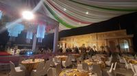 Dekorasi dan perlengkapan resepsi pernikahan putri Wawali Samarinda M Barkati sudah siap. (Foto: Liputan6.com/ Abdul Jalil)