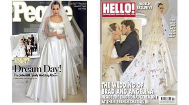 Angelina Jolie in Versace Wedding Gown 0914