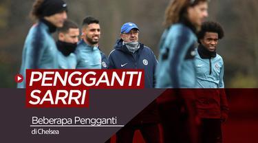 Berita video tentang beberapa pelatih yang berpeluang menggantikan Maurizio Sarri di Chelsea.
