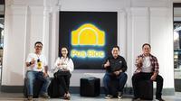 Menteri Badan Usaha Milik Negara (BUMN) Erick Thohir meresmikan pembukaan ruang kreatif publik Pos Bloc Jakarta pada Minggu 10 Oktober 2021.