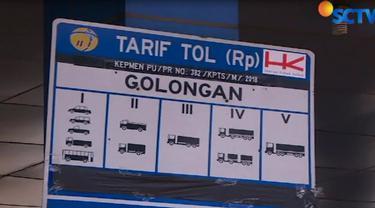 Sesuai dengan kebijakan penyesuaian tarif, kendaraan golongan 1 dikenakan tarif Rp 15 ribu.