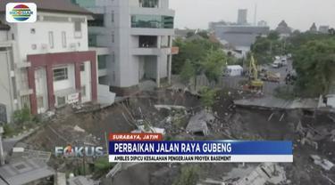 Polisi temukan bukti baru kelalaian pengerjaan proyek basement RS Siloam yang menyebabkan Jalan Gubeng, Surabaya, ambles.